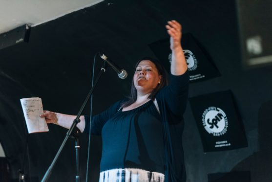 Jo Gilbert performing at Spin Aberdeen