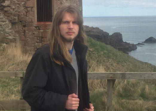 Joe Stollery at Slains Castle