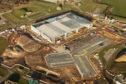 The new P-8 Poseidon hangar being built at RAF Lossiemouth.