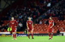 Aberdeen were beaten 3-2 by Rangers in a game which both sides finished with 10 men.