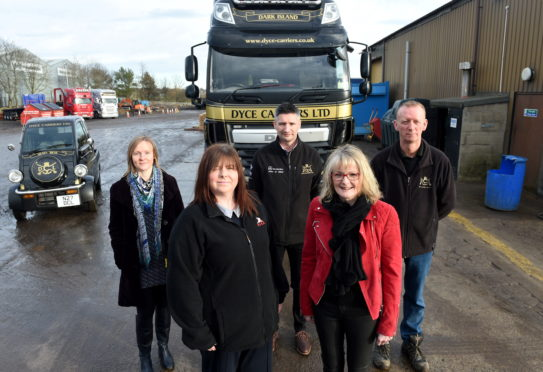 Dyce Carriers and the Road Haulage Association have joined with NHS Grampian to deliver an initiative designed to support good mental health.