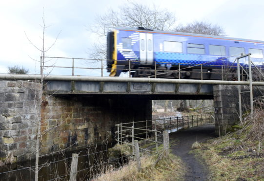 One of the railway bridges near Canal Place, Port Elphinstone.