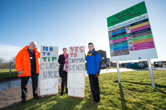 From left: Angus McNair (Petition Lead) at Lennox Community Council, Christine Allan (Buckie & District community council) and Colin Hanover (Chairman of Lennox Community Council)