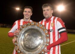 Formartine United's Graeme Rodger and Craig McKeown.