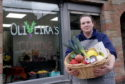 Banff's first plastic free greengrocer, Oliveira's, opened in February. Pictured is owner Catherine Henriques de Oliveira. Picture by KATH FLANNERY