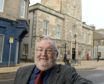 Councillor Tom Heggie outside the Nairn Courthouse