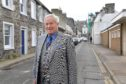 Councillor Mike Roy at Bridge Street Banff which is to undergo regeneration.