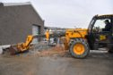 Work has started on the new ice factory at Macduff harbour which is expected to be completed by April