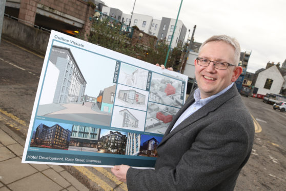 Stewart Campbell, co-owner of the land where the two-storey Rose Street car park is located, with plans for a hotel to be built on the site.