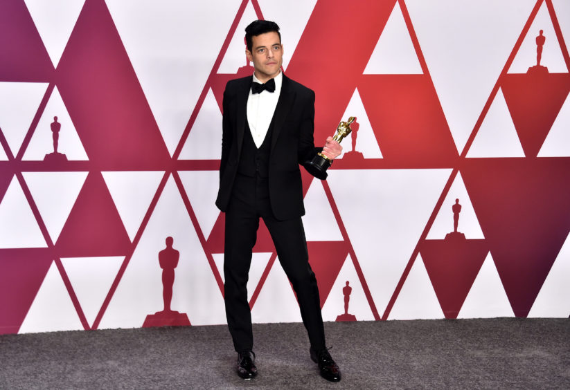 Rami Malek in the press room at the 91st Academy Awards held at the Dolby Theatre.