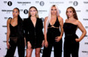 Little Mix (from left to right) Leigh-Anne Pinnock, Perrie Edwards, Jesy Nelson and Jade Thirlwall. Photo: Ian West/PA Wire