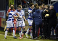 Stuart Kettlewell was involved in a touchline scuffle against Morton.