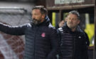Aberdeen manager Derek McInnes and his assistant Tony Docherty.