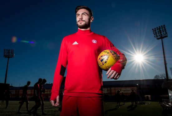 George Oakley made his debut for Hamilton Accies on Saturday.