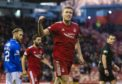 Sam Cosgrove netted twice for Aberdeen against Queen of the South.