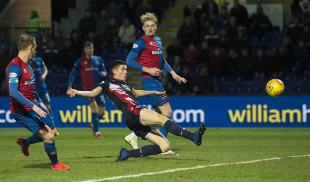 Ross Stewart netted for the second time against Inverness on Monday.