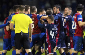 """Ross County's Michael Gardyne blasts Caley Thistle defender Brad McKay as a """"coward"""" after Highland derby scuffle"""