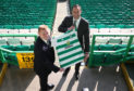 Newly appointed Celtic manager Neil Lennon (left) with assistant John Kennedy following the press conference at Celtic Park, Glasgow.