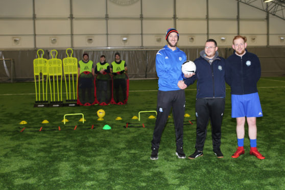Stornoway FC are the latest recipient of The Scottish Salmon Company's community award funds