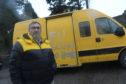 Cllr Allard with the van