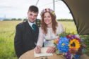 Sonia and Shaun Kerr at their wedding.