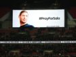 The big screen paying tribute to Emiliano Sala before the Premier League match at Wembley Stadium.