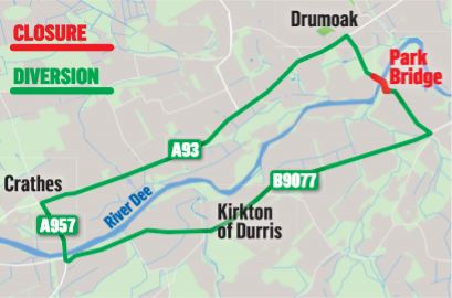 The diversion caused by the bridge closure.