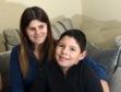 Pictured are Elena Kiraly and Luca Kiraly, 10. They are looking to raise around £80,000 for Luca to get life changing surgery in the US.