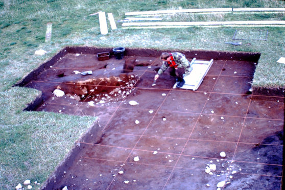 Crathes Archaeology  excavation