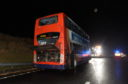 The bus fire took place on the A90 Aberdeen to Peterhead road.