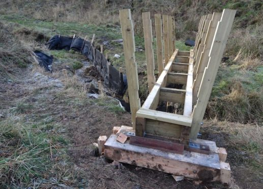 New footbridges for the walk from the Gardenstown Seatown beach up to St John's Kirkyard
