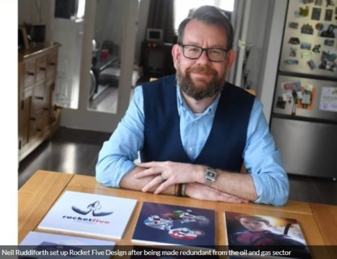 de6eb0fc596 Former oil worker blasts off with graphic design business
