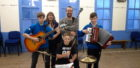 Charlie Henshaw, Roselynn Michie, Chris Docherty, Ruairidh MacLellan and drummer Owen Callendar want musicians and singers to join them at their weekly trad session in Onich Village Hall.