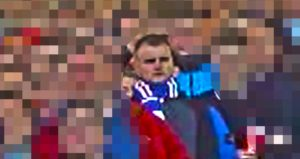 Police have released images of a Rangers fan who they want to speak to in connection with trouble at Pittodrie Scottish Cup tie.