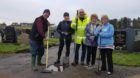 Volunteers at Wick New Graveyard who are hoping to set up a Friends of the Graveyard group.