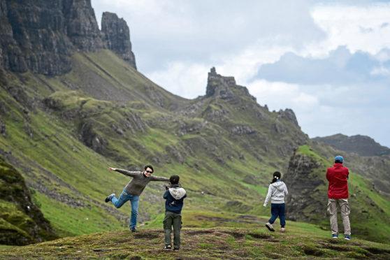 Quiraing on the Isle of Skye.
