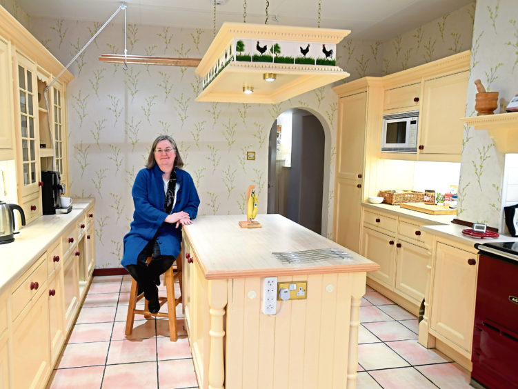 Moira Cameron in her house in Bieldside. Pic by Chris Sumner.