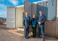 Fergus Ewing, Rural Economy Secretary, visits Drift cafe near North Berwick. Also photographed are Stuart and Jo McNicol of Drift, Castleton Farm.
