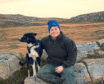 Sutherland farmer Joyce Campbell with her sheepdog, Roy