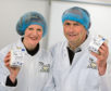 Dairy farmers the Mackie's are opening a yoghurt factory at their farm in Rora, Longside. Pictured is Bruce and Jane Mackie in their new yogurt factory they recently installed at the farm.