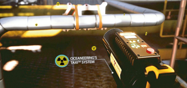 The TAXI system can use radiography to scan pipes for corrosion without tripping platform alarms