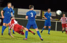 Gary McGowan scores for Formartine. Picture by Jim Irvine
