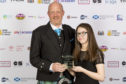 Modo director Martin Danziger and youth cafe volunteer Megan McGonigle at the Youthlink 2019 National Youth work awards    Picture: Alan Rennie