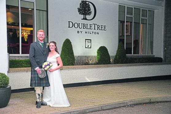 Lee and Lucy Gilray at Hilton Treetops.