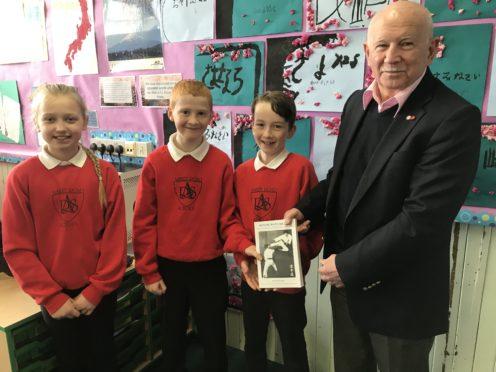 Ronnie Watt with Ashley Road pupils