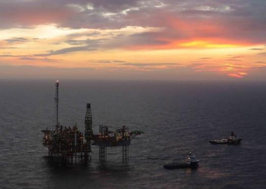 BP's Etap field at sunset.