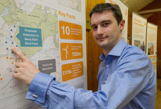Airvolution project manager Micheal O Broin is spearheading the Berry Burn extension plans.