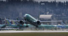 RENTON, WA - MARCH 22: A Boeing 737 MAX 8 airliner takes off from  Renton Municipal Airport near the company's factory, on March 22, 2019 in Renton, Washington. After two crashes of 737 MAX planes in five months, the model has been grounded from from passenger flights by aviation authorities throughout the world. (Photo by Stephen Brashear/Getty Images)