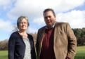 MSP Jamie Halcro Johnston and Forres councillor Claire Feaver