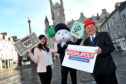 Jennifer Lau (Custom Games Executive at Winning Moves UK, Mr MONOPOLY and Barney Crockett (Lord Provost of Aberdeen).